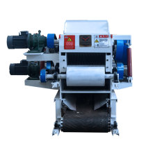 High efficiency drum wood chipper