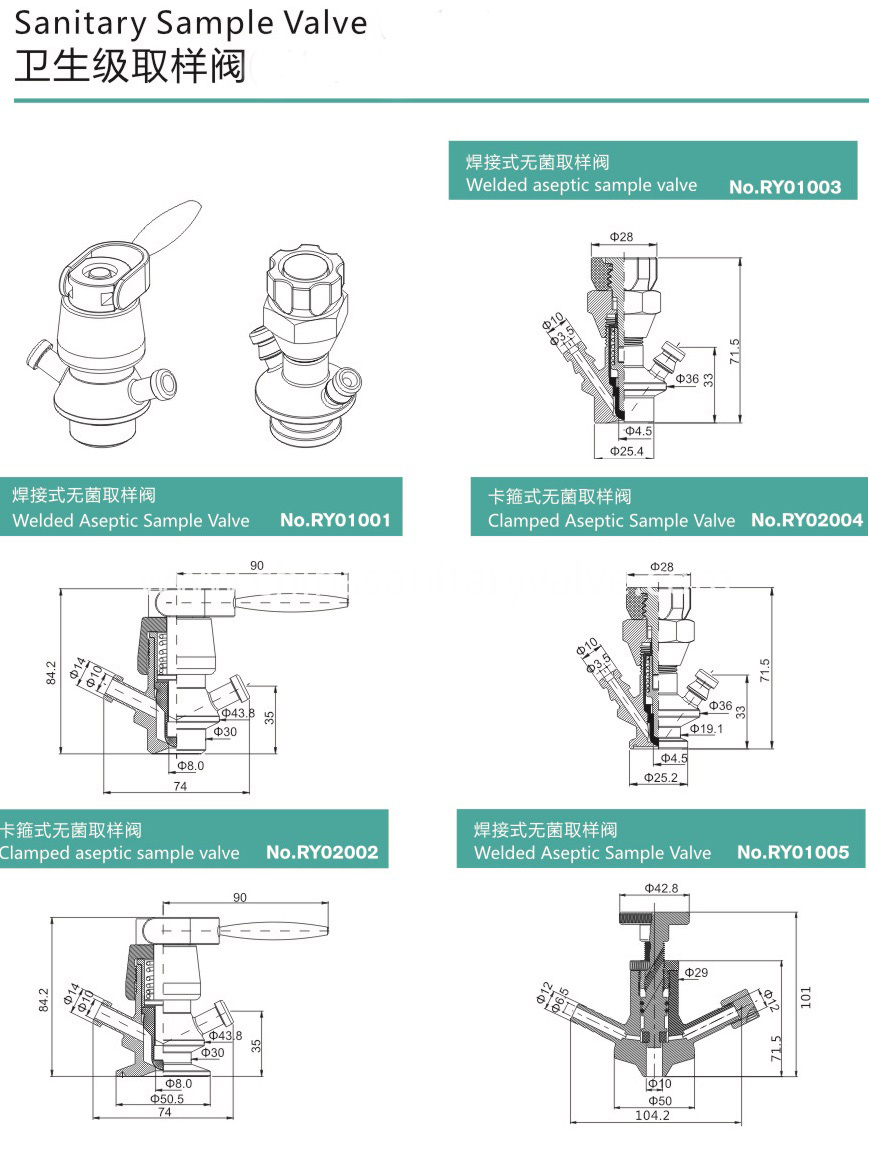 sanitary sample valve
