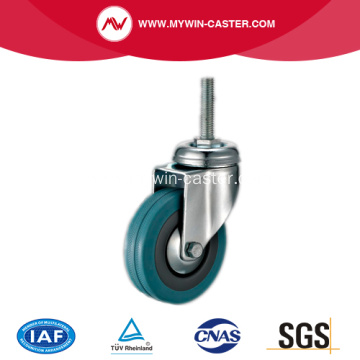 2'' Threaded Stem Grey Rubber Caster