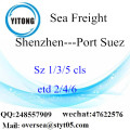 Shenzhen Port LCL Consolidation To Port Suez