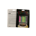 rainbow color flame birthday cake candles