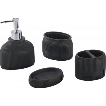 BLACK Bathroom Accessory Set 4-piece