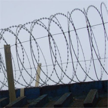 Galvanized Coiled Razor Barbed Wire Fencing