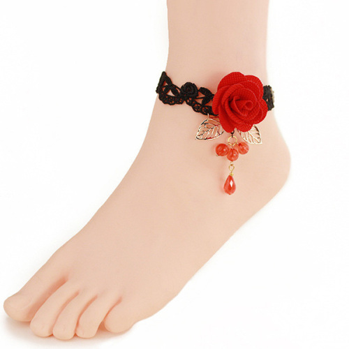 Latest Jewelry Handmade Home Design Lace Anklets For Women