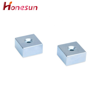 Block Neodymium Magnets With Hole Powerful Magnetic