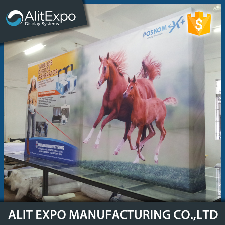 Exhibition aluminum modular pop up display booth banner