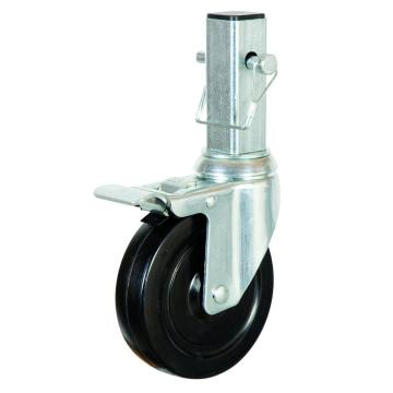 5 inch rubber wheel locking casters