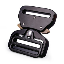 38mm Heavy Duty 18KN Steel Tactical Military Black Electrophoresis Cobra Belt Buckle For Military