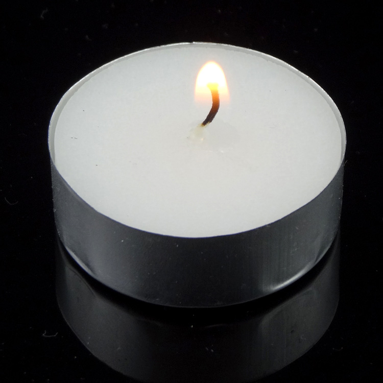 White Unscented Tea Candles