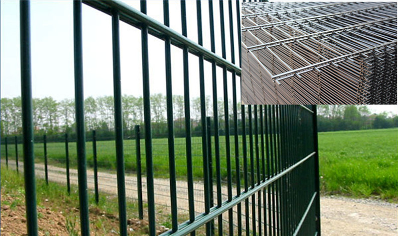 twin wire mesh fence
