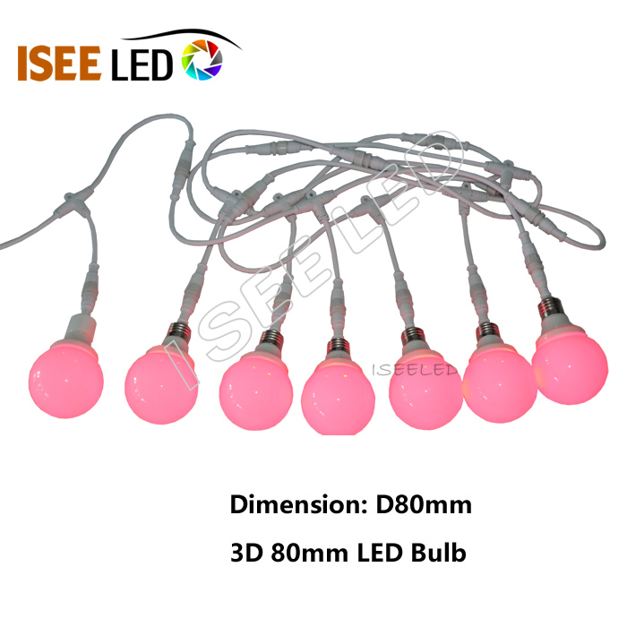 3D Addressable RGB Led Point Light Bulb Lamp