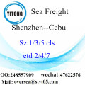 Shenzhen Port LCL Consolidation To Cebu