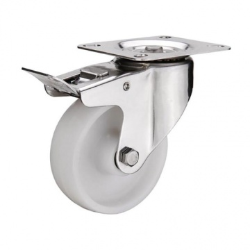 4 inch nylon caster wheels with total brake