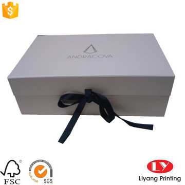 Fashion cardboard folding box garment packaging