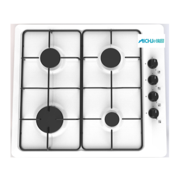 White Glass Cooker 4 Burner