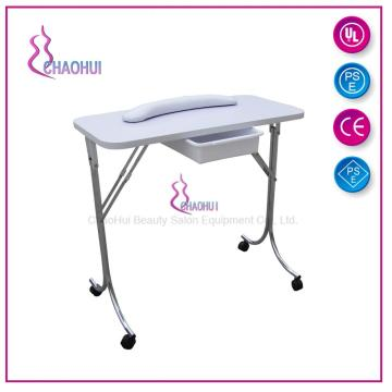 White and portable nail table