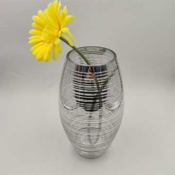 Wholesale Clear And Silver Glass Vase