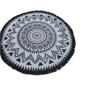 purple 180cm multi color circle roundie beach towel