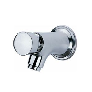 Wall Mounted Push Button Pillar Taps