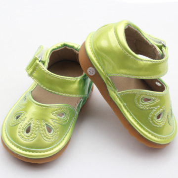 Skidproof PU Leather Children Squeaky Shoes