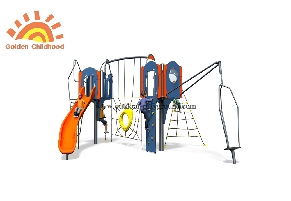Outdoor Plastic Play Climbing Slide Structure Playground