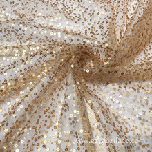 Gold Metallic Sequin Embroidery Lace