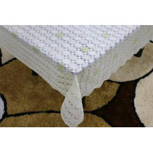 Printed pvc lace tablecloth by roll unwrinkle