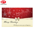 Merry christmas gift card printing with custom desgin