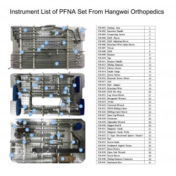 Orthopedic PFNA Intramedullary nail instrument set