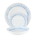 18 Piece Coupe Porcelain Tableware Set,Ocean Blues