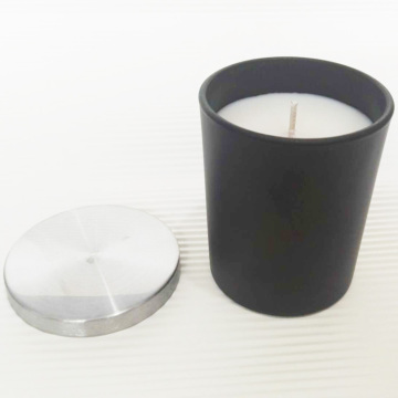 Classic Matte Black Glass Jar Scented Soy Candles