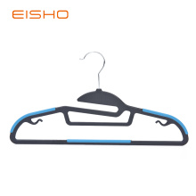 Non-Slip Plastic Hangers With Blue Rubber Pieces
