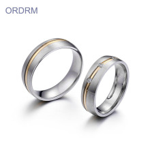 Stainless Steel Couple Ring Set For Valentine's Day