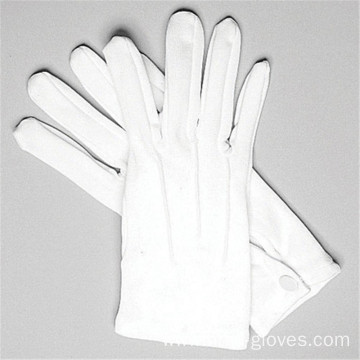 100% Cotton White Etiquette Gloves
