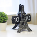 Eiffel flip clock with cards automatic