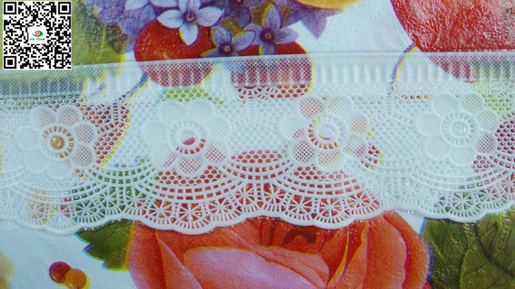 vinyl tablecloth 3 inch lace edge