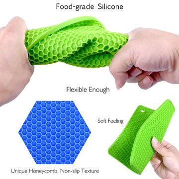 Silicone Pot Holders Silicone Trivets Multi-Purpose Hot Pads