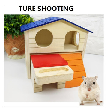 Wooden Mouse House With Feeding Through