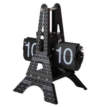 Eiffel Tower Table Clock for Decor