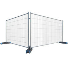 Temporary portable fencing panel construction