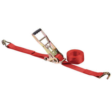 2 Inch Double Security Lock Polyester Ratchet Lashing Belt