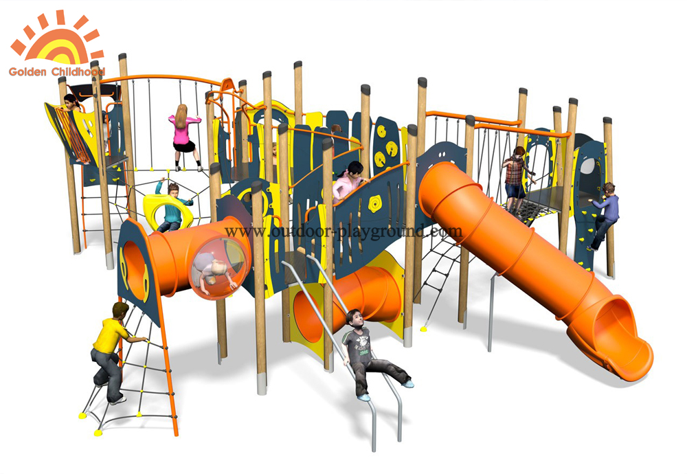 Outdoor Mutiplay Structure Inclined Net Park