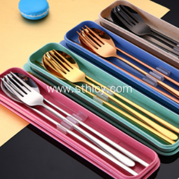 Colorful 304 Stainless Steel Chopsticks Spoon Fork