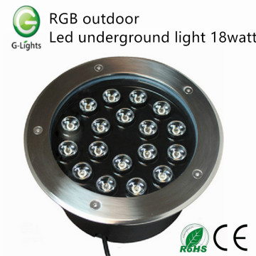RGB outdoor led underground light 18watt
