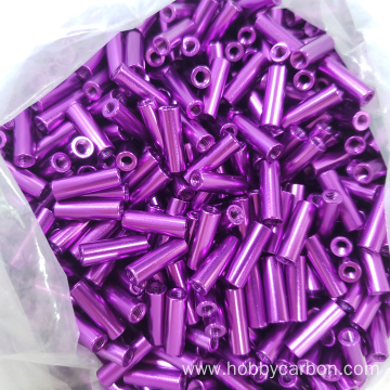 I-M3X15mm purple round aluminium spacer yohlaka lweFPV