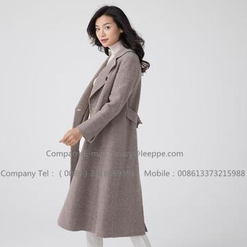 Long Hooded Cashmere Overcoat For Women