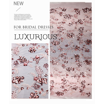 Mesh Sequin Embroidery Fabric