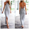 Summer Sleeveless Long Women's Cotton Dress