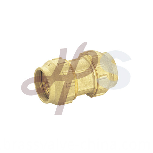 Brass Pe Ppr Compression Straight Double Coupling H802