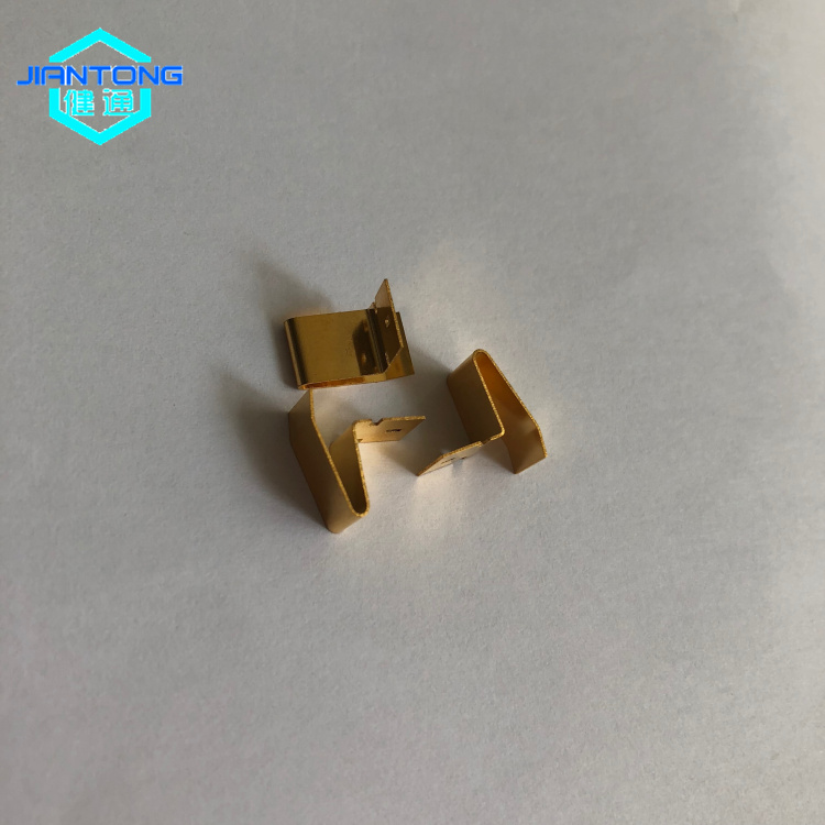 custom stainless spring steel stamping gold plated contacts